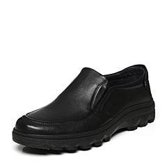 Senda/森达秋季新款时尚软牛皮革舒适男商务休闲皮鞋3-107CM8