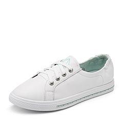 Senda/森达2018秋季新款专柜同款韩版女休闲小白鞋板鞋VRB20CM8