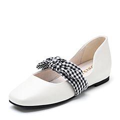 Senda/森达2018秋季新款专柜同款甜美蝴蝶结玛丽珍女单鞋3JE02CQ8