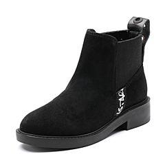 Senda/森达2018冬季新款专柜同款时尚街拍休闲方跟女短靴4FE01DD8
