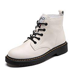 Senda/森达2018冬季新款专柜同款时尚韩版街头休闲女短靴4FT01DD8