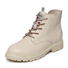 Senda/森达2018冬季新款专柜同款时尚韩版休闲女短靴4FV01DD8