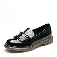 Senda/森达2019春季新款专柜同款英伦学院休闲风女单鞋VKU24AM9