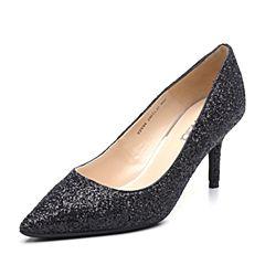 Senda/森达2019春季新款专柜同款性感女细高跟单鞋婚鞋VSV04AQ9