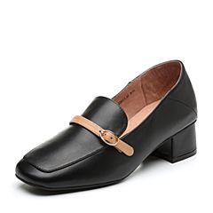 Senda/森达2019春季新款专柜同款通勤中粗跟舒适女单鞋VTE20AM9