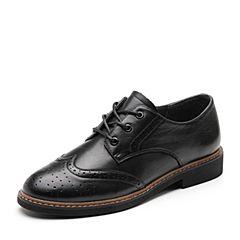 Senda/森达2019春季新款专柜同款英伦布洛克款式女单鞋3KI01AM9