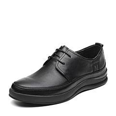 Senda/森达2019春季新款专柜同款男简约舒适男休闲皮鞋V2202AM9