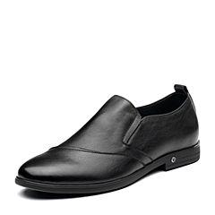 Senda/森达2019春季新款专柜同款一?#35834;?#33298;适商务男鞋1DC15AM9