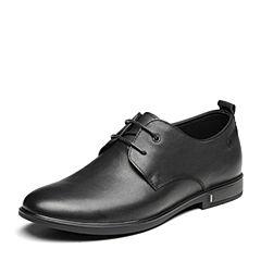 Senda/森达2019春季新款专柜同款舒适系带商务男皮鞋1DE17AM9