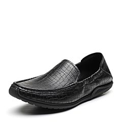 Senda/森达2019春季新款专柜同款时尚一?#35834;?#30007;休闲豆豆鞋1DM15AM9
