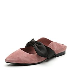 Senda/森达2019春季新款专柜同款性感蝴蝶结女后空凉鞋3LF01AH9