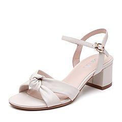 Senda/森达2019夏季新款专柜同款通勤风休闲粗高跟女凉鞋4KA01BL9