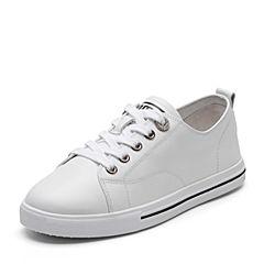 Senda/森达2019春季新款韩版潮流舒适休闲平底女小白鞋219-1AM9