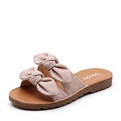 Senda/森达2019夏季新款专柜同款甜美居家外穿女凉拖鞋4JA01BT9