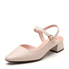 Senda/森达2019夏季新款专柜同款简约清爽粗跟女凉鞋4JC01BH9