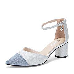 Senda/森达2019夏季新款专柜同款性感尖头中空女凉鞋VZO31BK9