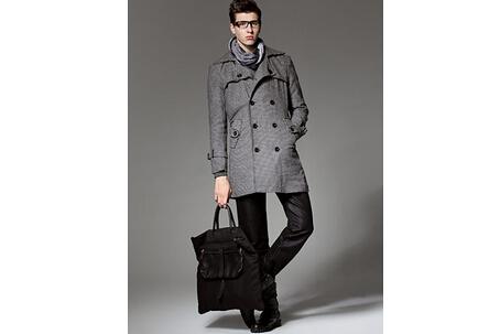 男士灰色外套搭配