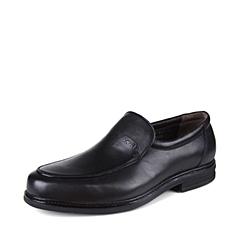 SKAP/圣伽步 男子 商务休闲 牛皮 深口鞋 秋季 专柜同款  黑色 2031317194