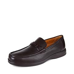 SKAP/圣伽步 男子 商务休闲 牛皮 深口鞋 秋季 专柜同款  深啡 2031328184