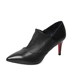 STACCATO/思加图秋季专柜同款黑色牛皮女鞋9VU03CM5
