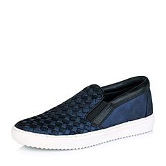 STACCATO/思加图秋季专柜同款深兰/黑-裂面绵羊皮满帮单鞋9YV02CM5