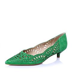 STACCATO/思加图春季专柜同款绿羊绒皮女鞋(雕刻)9UK09AQ6