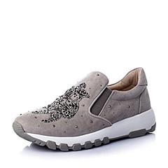 STACCATO/思加图春季专柜同款灰羊绒皮女单鞋9YC05AM6