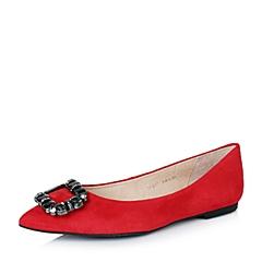 STACCATO/思加图秋季专柜同款红色羊绒皮闪耀水钻女单鞋9UG27CQ6