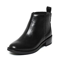 STACCATO/思加图冬季专柜同款黑色牛皮女靴9RA73DD6
