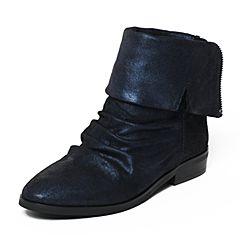 STACCATO/思加图冬季专柜同款深兰色羊皮女靴9KH16DZ6
