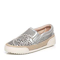 STACCATO/思加图春季专柜同款银色羊绒皮女单鞋(雕刻)9YT04AM6