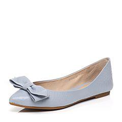 STACCATO/思加图2017春季专柜同款浅兰色牛皮女单鞋9SD32AQ7