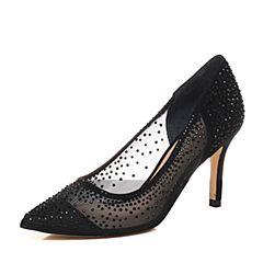 STACCATO/思加图春季专柜同款黑色网布女单鞋9UE37AQ7