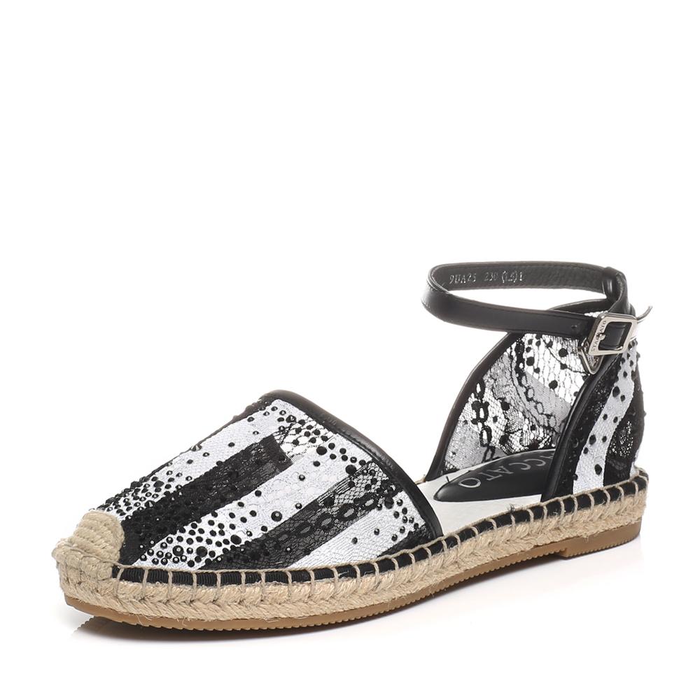 staccato/思加图春季专柜同款黑色女凉鞋9ua25ak7