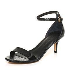 STACCATO/思加图夏季专柜同款一字带女皮凉鞋9E701BL7