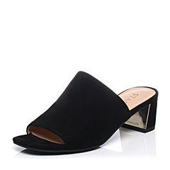 STACCATO/思加图夏季专柜同款羊绒皮女凉拖鞋9F101BT7