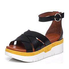 STACCATO/思加图夏季专柜同款牛皮女凉鞋9F302BL7