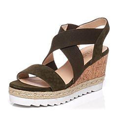 STACCATO/思加图夏季专柜同款羊皮女凉鞋9F602BL7