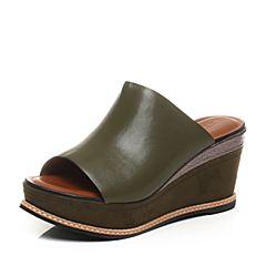 STACCATO/思加图夏季专柜同款牛皮革女皮凉鞋9G601BT7