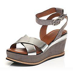 STACCATO/思加图夏季专柜同款舒适坡跟女凉鞋9G602BL7