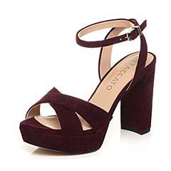 STACCATO/思加图夏季专柜同款紫色羊绒皮革女皮凉鞋9JU03BL7