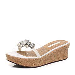 STACCATO/思加图夏季专柜同款人造革/毛绒布女凉鞋EYB28BT7