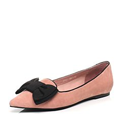 STACCATO/思加图2017春季专柜同款粉色羊绒皮女单鞋J8101AM7