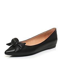 STACCATO/思加图2017春季专柜同款黑色羊皮浅口女单鞋K7101AQ7