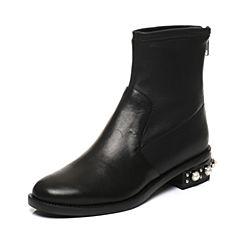STACCATO/思加图秋季专柜同款短筒女皮靴9RA93DD7