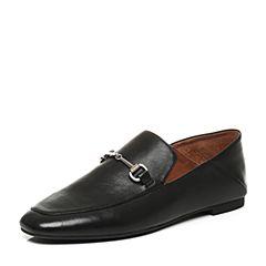 STACCATO/思加图秋季羊皮黑色方头女皮鞋9D906CM7