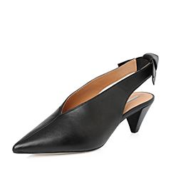 STACCATO/思加图2018年春季专柜同款黑色羊皮女皮凉鞋9YD21AH8