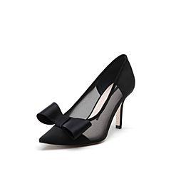 STACCATO/思加图2018年春季专柜同款黑色网布浅口女单鞋9I219AQ8