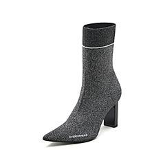 STACCATO/思加图2018冬专柜同款显瘦弹力布女短靴9Q301DZ8