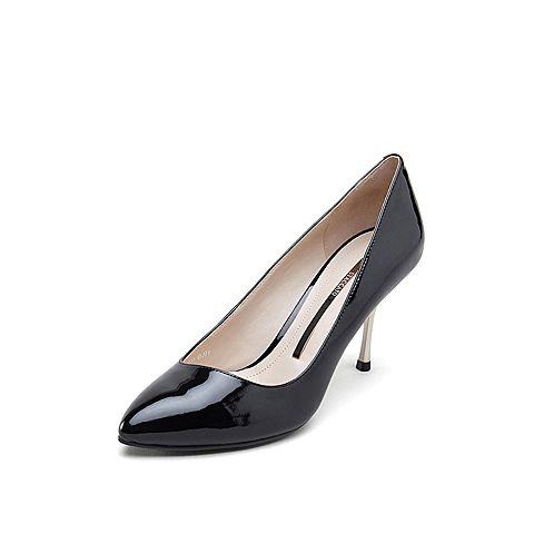 staccato/思加图2019专柜同款漆皮牛皮革女皮鞋ey263aq9图片